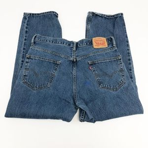 levi's | vintage 550 high waisted mom jeans paint